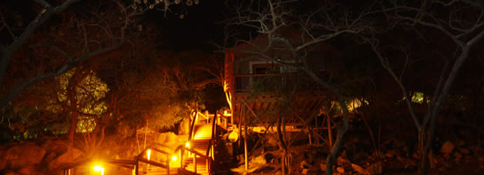 Night falls on 5th Seasons Guesthouse, accommodation in Nelspruit